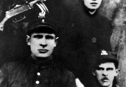 """Kwiecień 1945 r. Partyzanci oddziału """"Krysi"""" i """"Lalusia"""""""