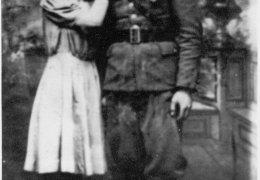 """Zygmunt Rychcik """"Orzeł"""", """"Huragan"""" z żoną Danutą"""